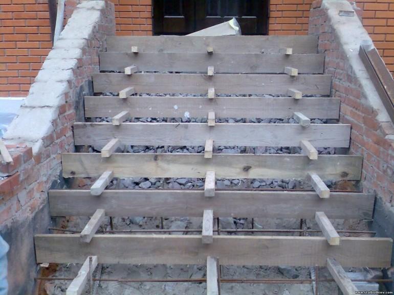 заливка ступеней