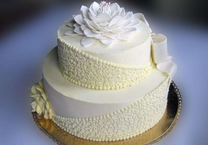 Свадебный торт масляный крем картинки