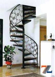 Кованые перила - украшение винтовой лестницы