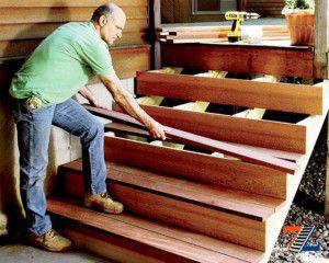 Сборка деревянных ступеней