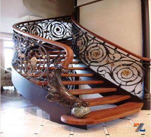 Сказочно красивая и богато декорированная лестница