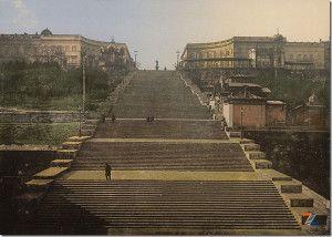 Старое фото: Потемкинская лестница в Одессе