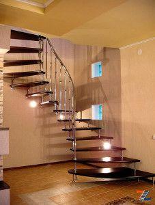 Лестница на второй этаж на больцах – для небольшого помещения