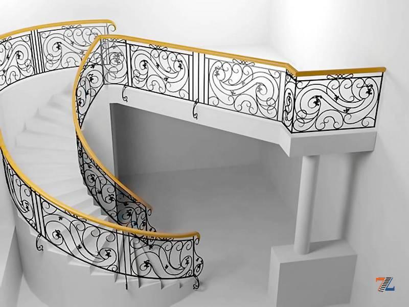 Кованые перила лестниц