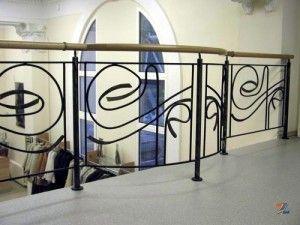 Кованые перила для лестниц в стиле модерн