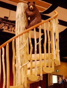 Винтовая лестница в русском стиле