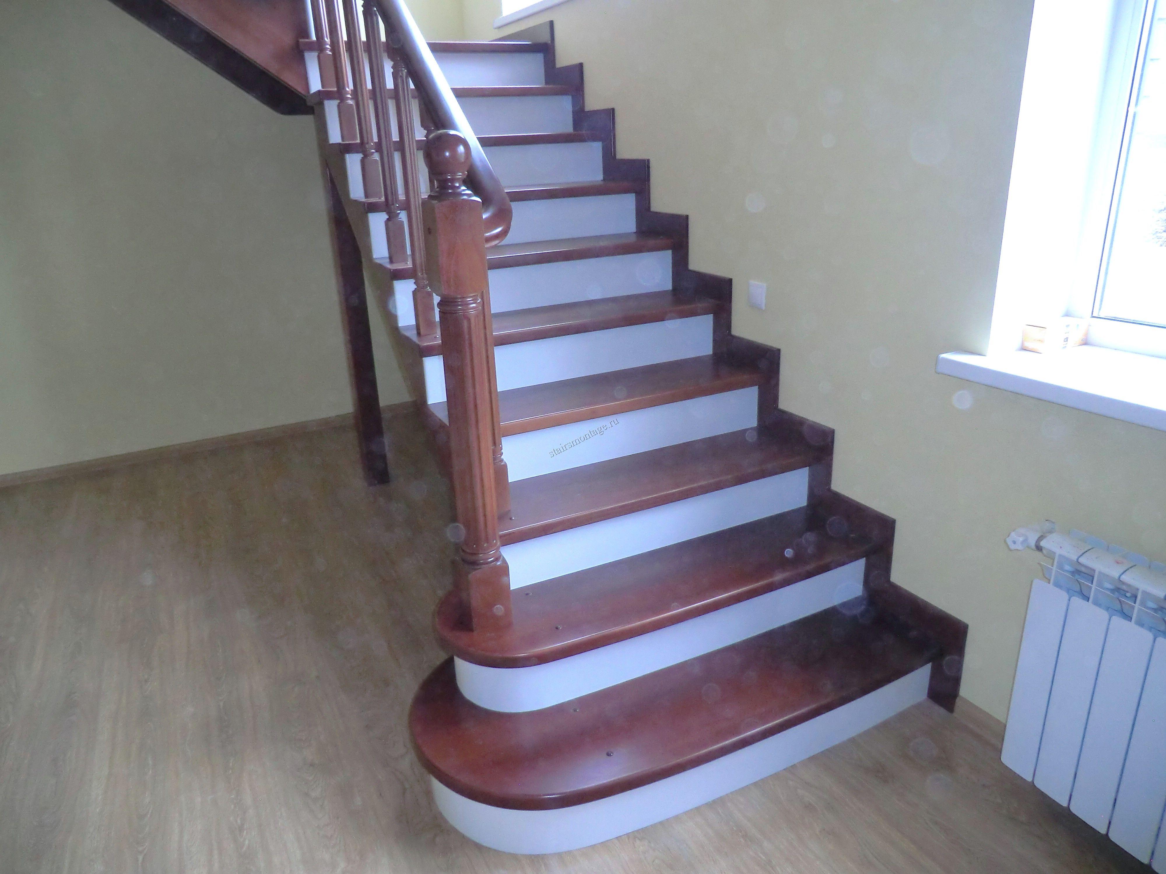 Монтаж лестниц из дерева
