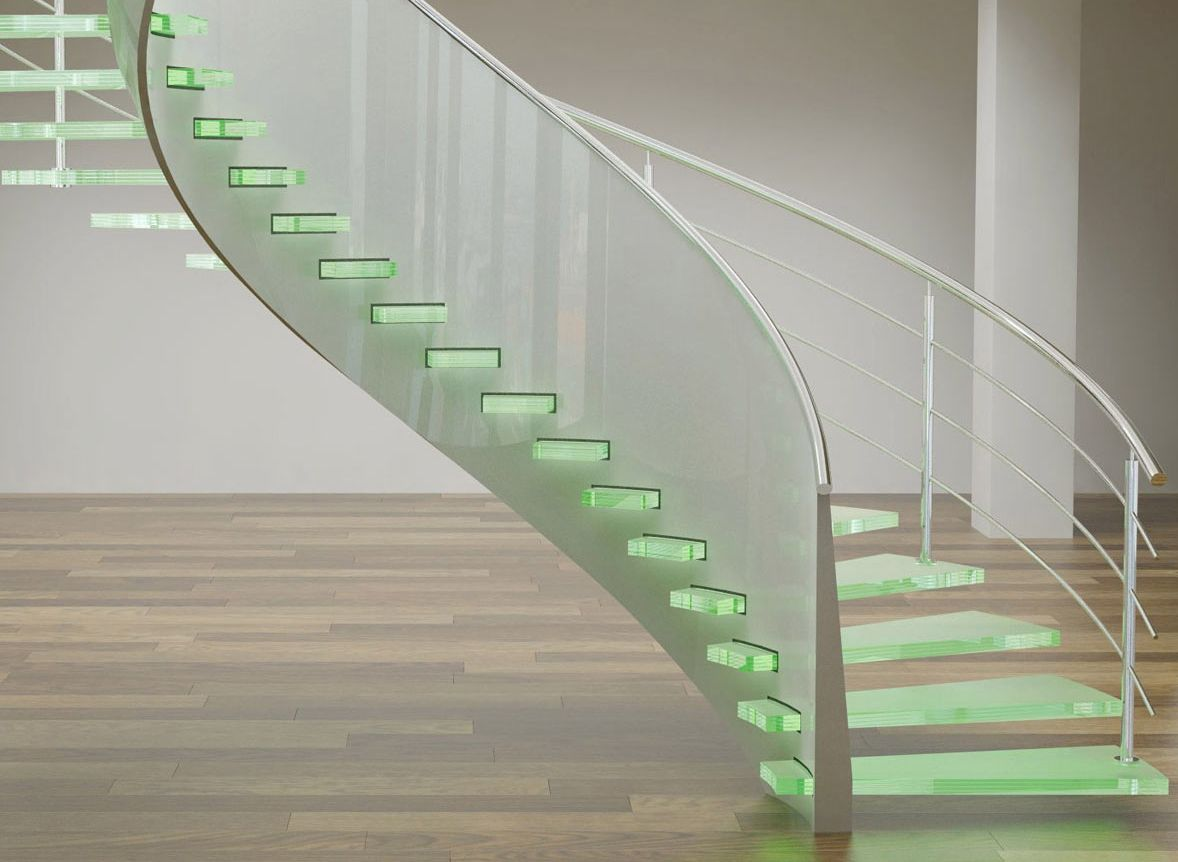 Архитектура будущего: стеклянные лестницы
