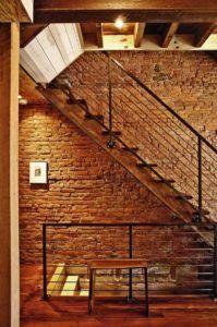 Дизайн лестницы в стиле лофт