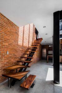 Лестница в стиле лофт без перил