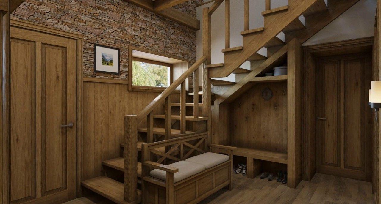 лестница в стиле шале фото перемешать разложить чистым