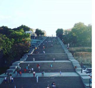 Потёмкинская лестница, вид снизу