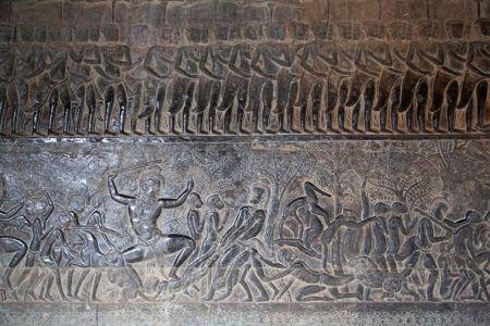 Барельеф а Ангкор-Вате