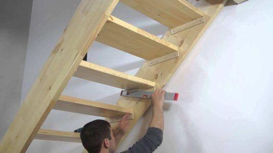 Деревянная лестница на чердак своими руками