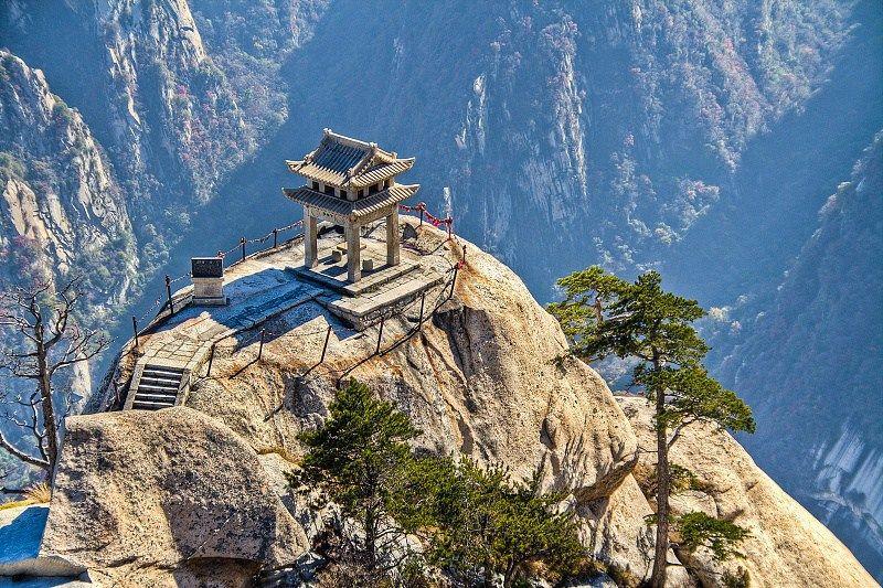 Лестницы на священной горе Huashan