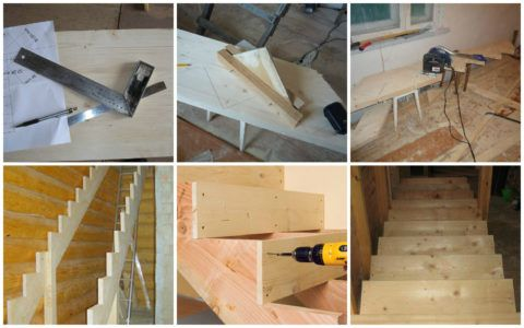 Основные этапы изготовления прямой лестницы