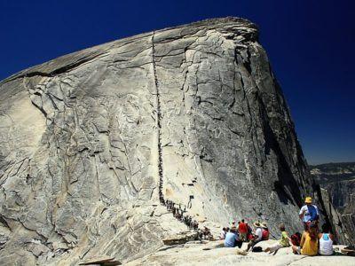 Лестница на вершинк горы Хаф Доум