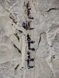 Лестница на скале Хаф-Доум