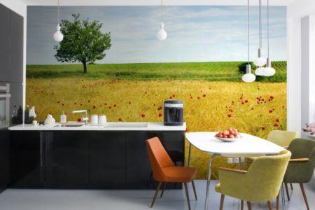 Фотообои на кухне в стиле прованс