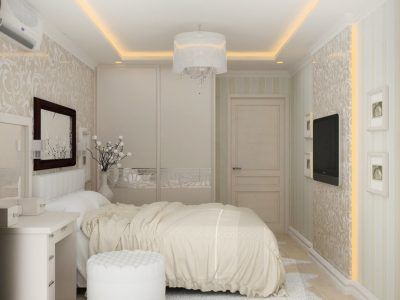 Дизайн маленькой комнаты в светлых тонах