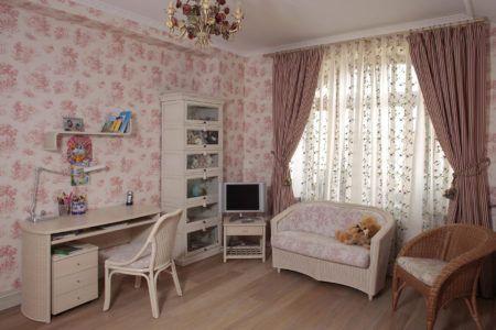 Комната для ребёнка в пастельных тонах