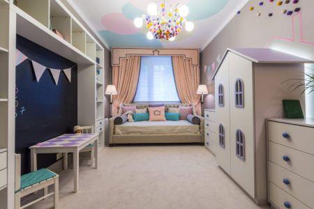 Использование необычной мебели в интерьере комнаты для детей