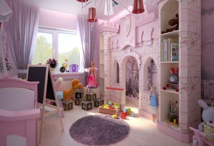 Замки и куклы в интерьере детской комнаты