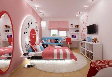 Современный дизайн комнаты для девочки-подростка