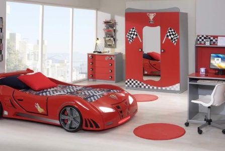 Дизайн детской для маленького любителя автомобилей