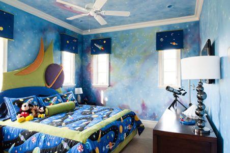 Тема космоса в оформлении детской комнаты для мальчика