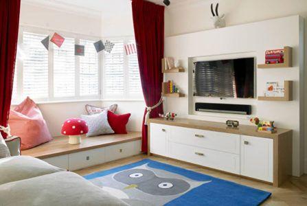 Оригинальный ковёр в интерьере детской комнаты