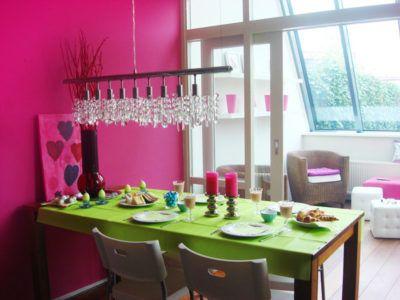 розовый и зеленый в интерьере