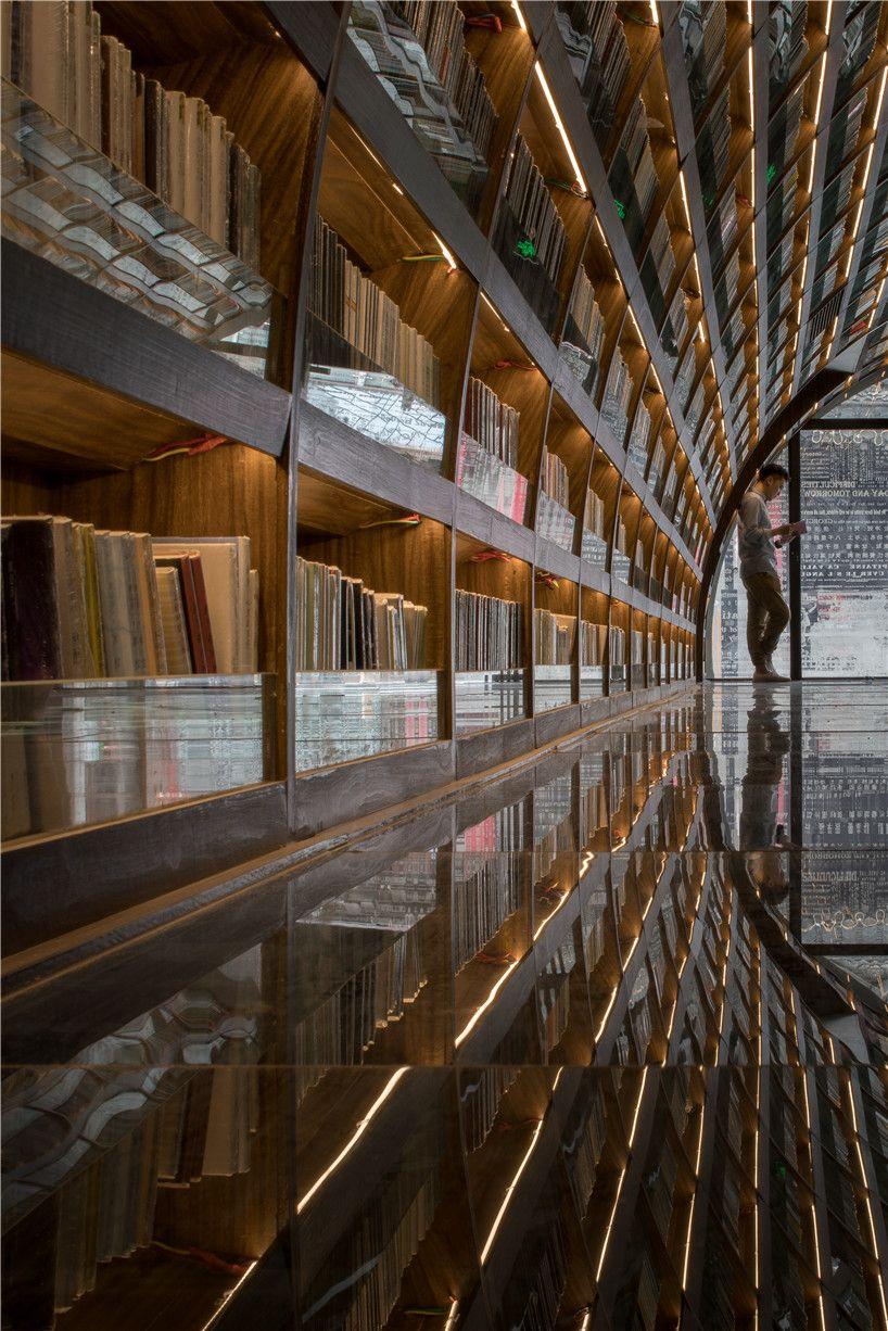 """Книжные полки в """"Yangzhou Chongshuge"""""""