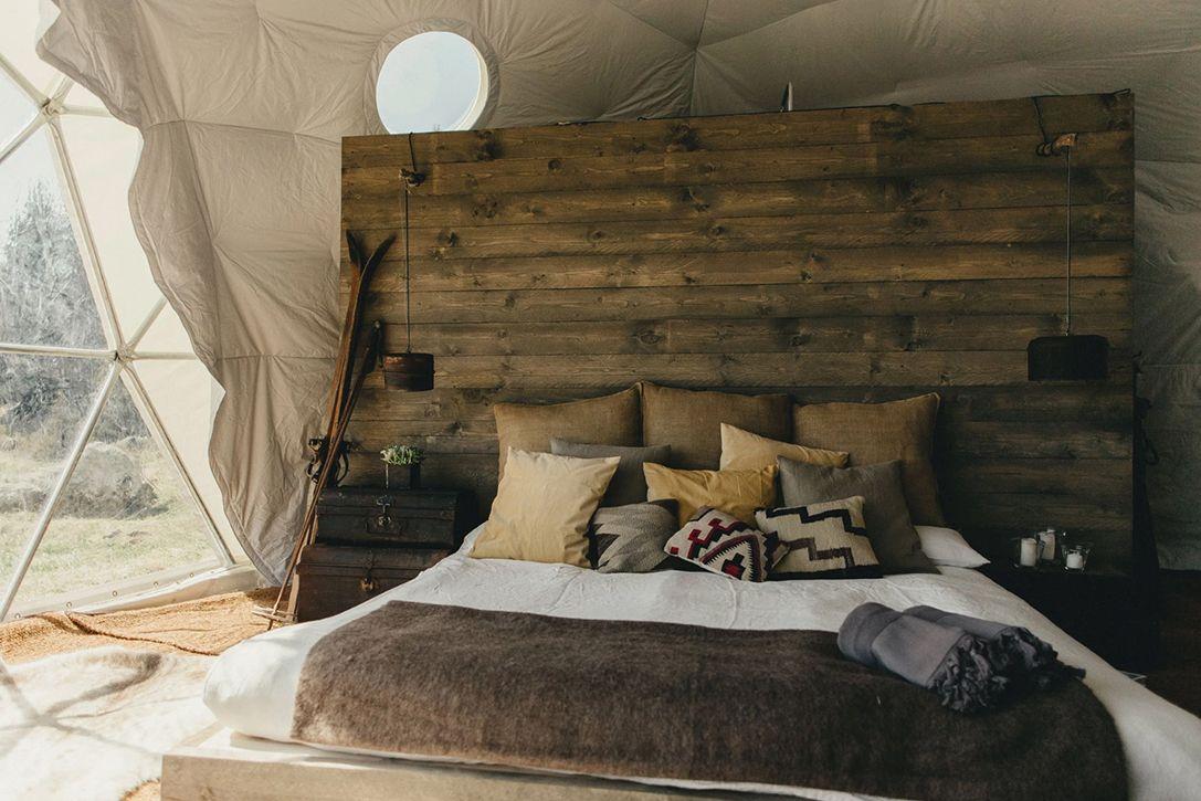Кровать в Kachi Lodge