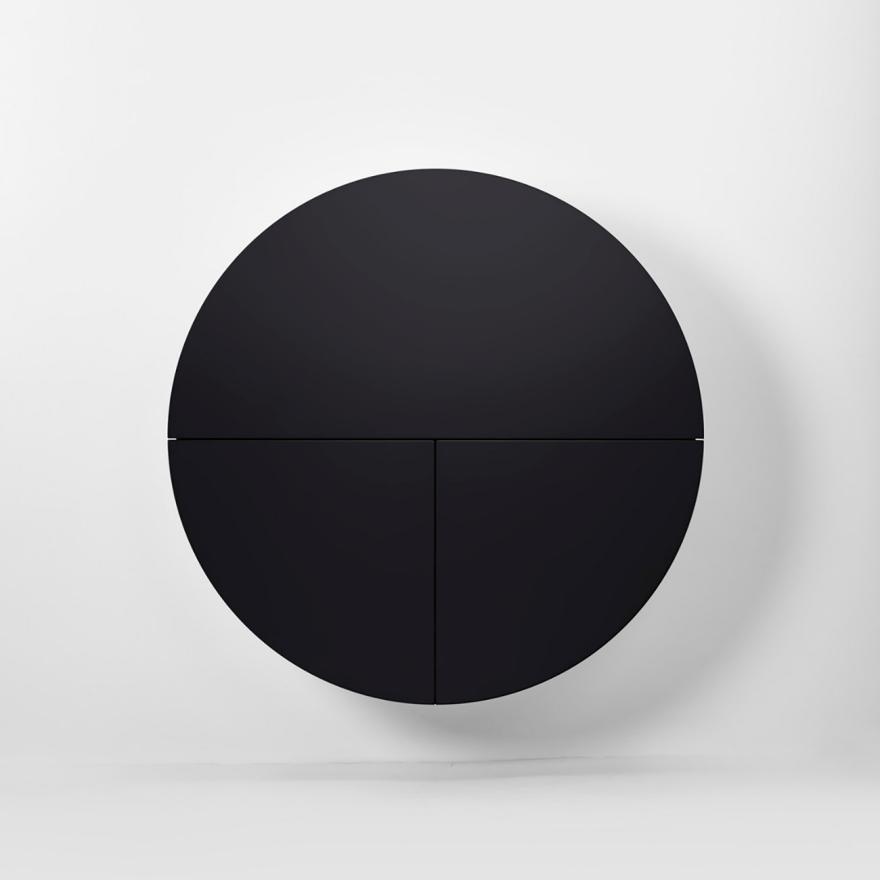 Черный круглый шкафчик