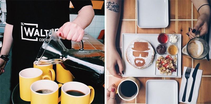 Еда и напитки в кофейне