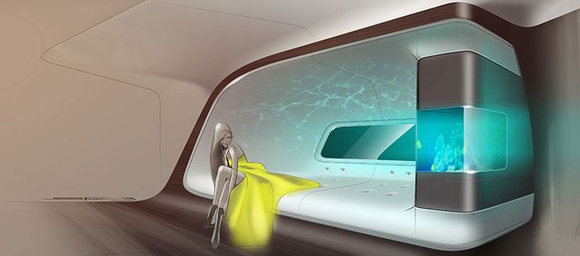 Интерьер самолета от Mercedes и Lufthansa