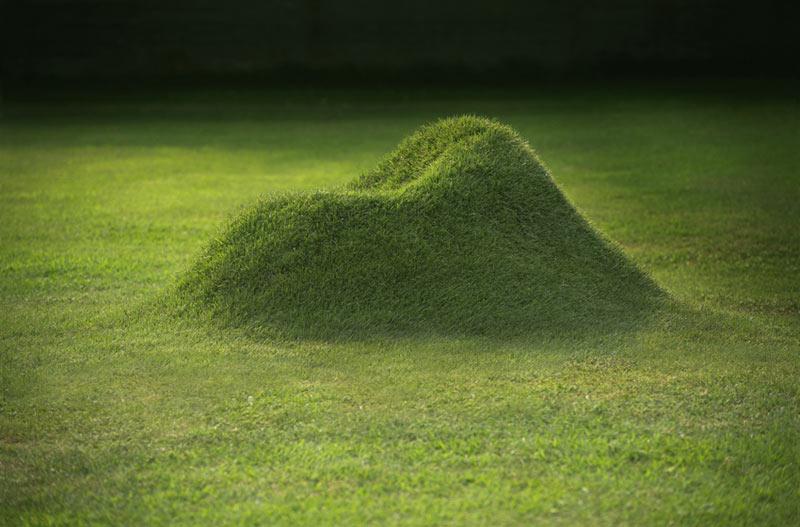 Кресло, сделанное из травы