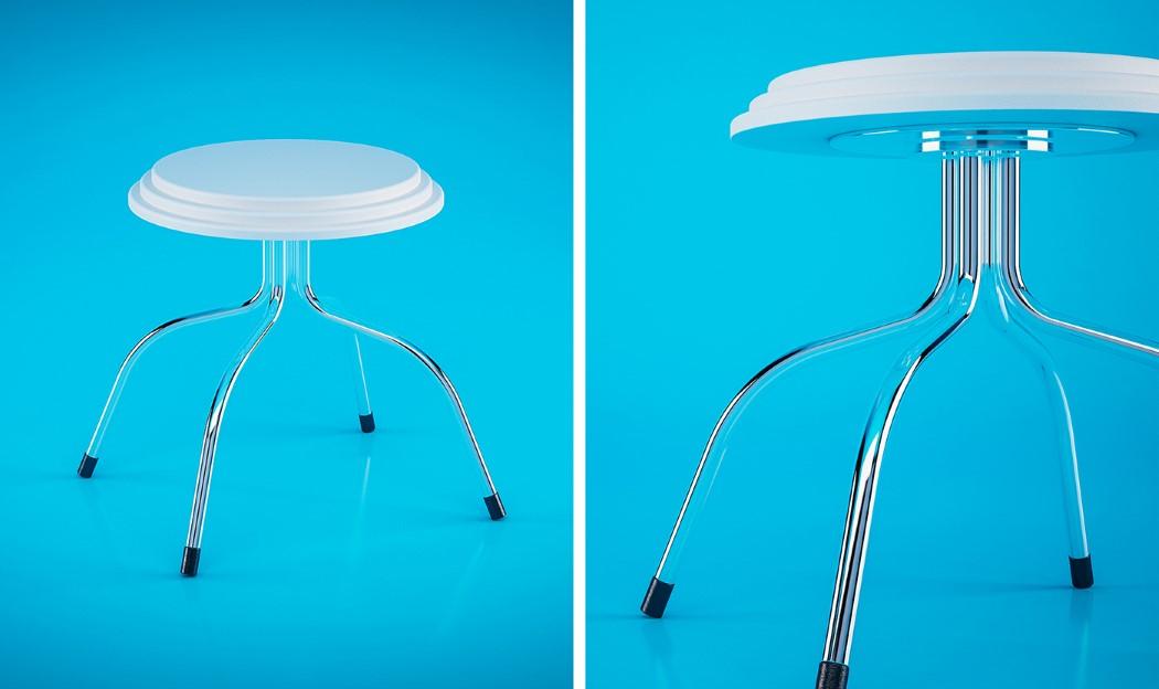 Мини-стол Pillowed с разных ракурсов