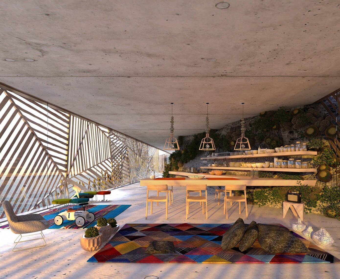 Обеденный стол в Доме Мугу