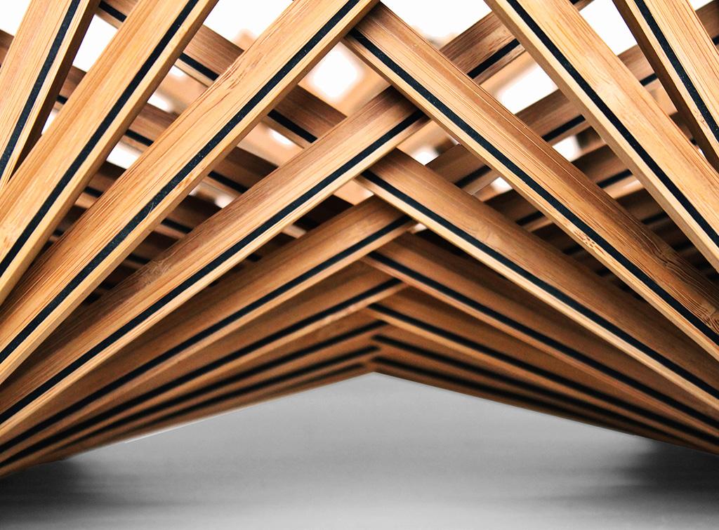Переплетенные детали складной мебели