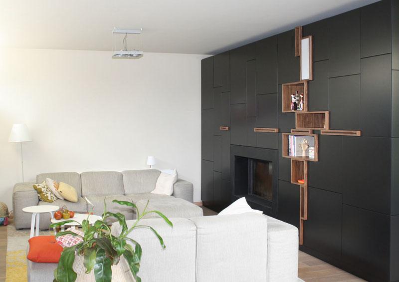 Расположение полок на стене
