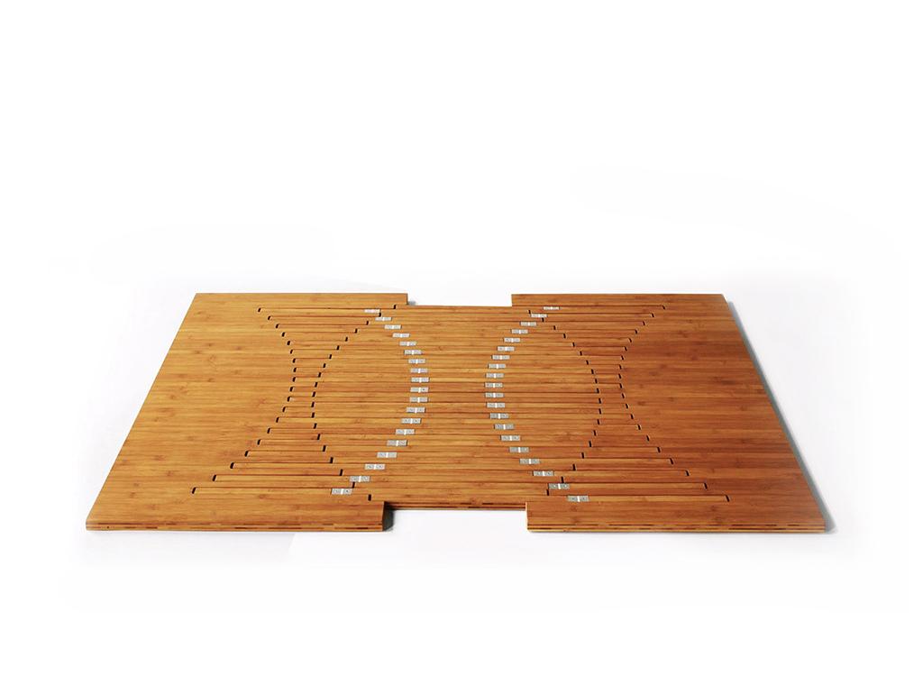 Складной стол сложенный