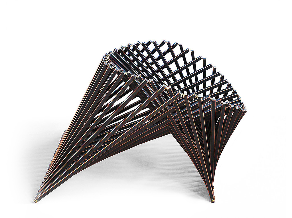 Складной стул, вид сбоку