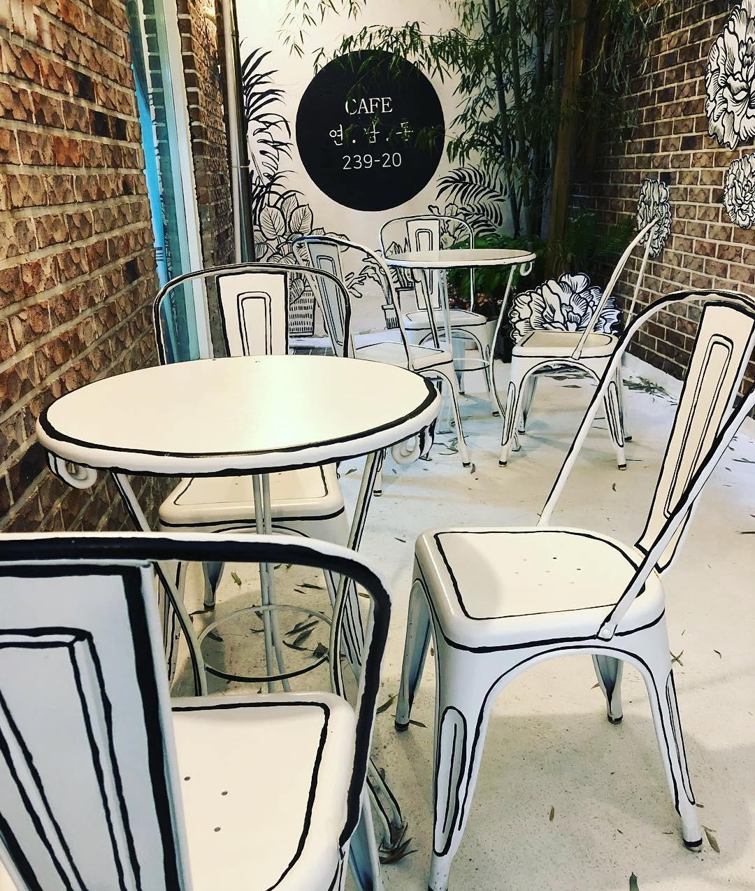 Столики 2D кафе
