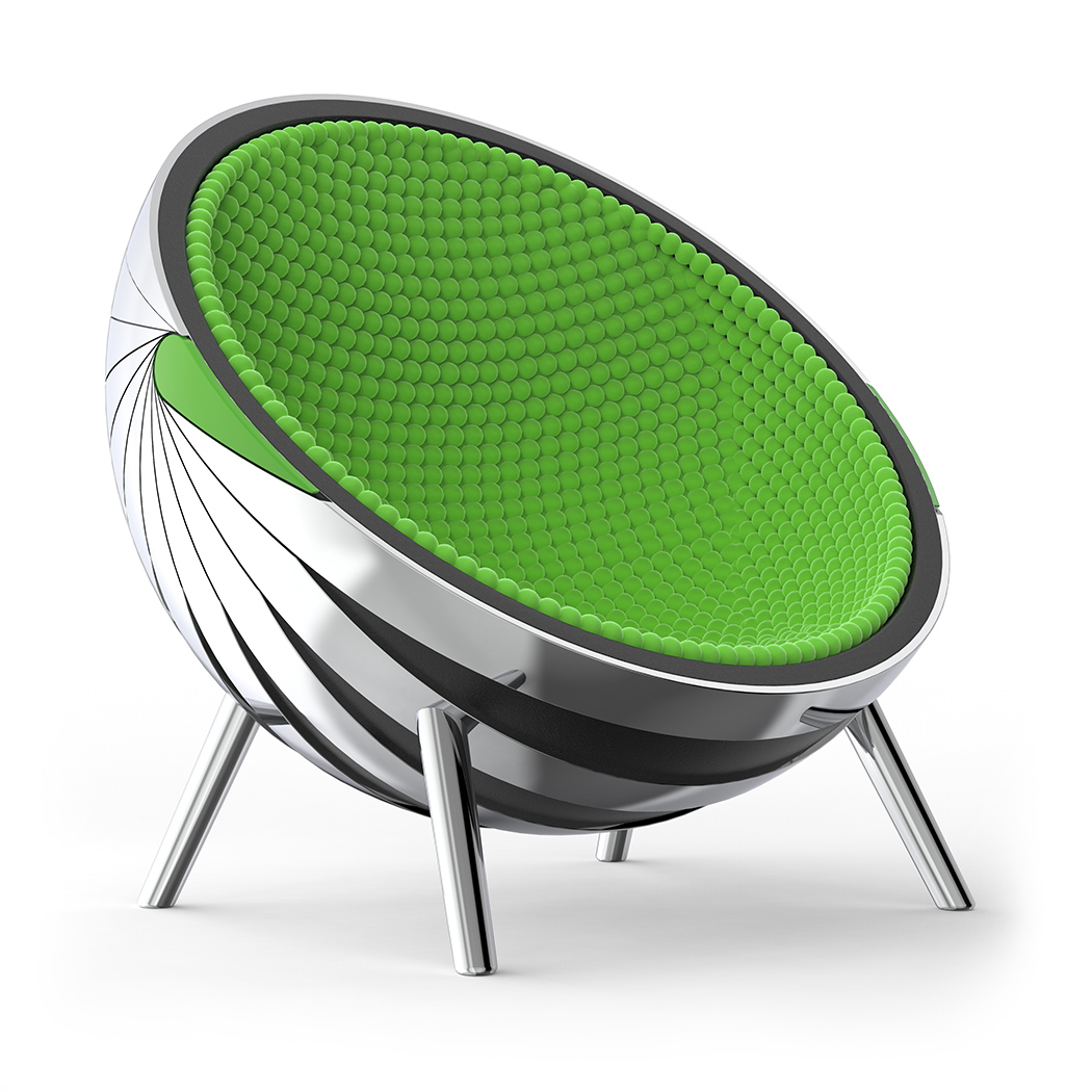 Зеленое кресло-кокон