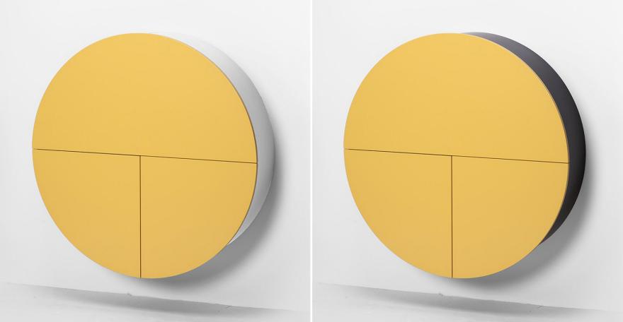 Желтые шкафчики