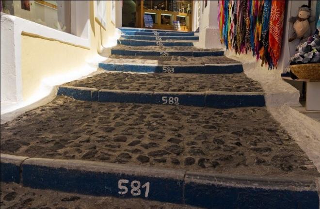 Лестница Санторини в Греции