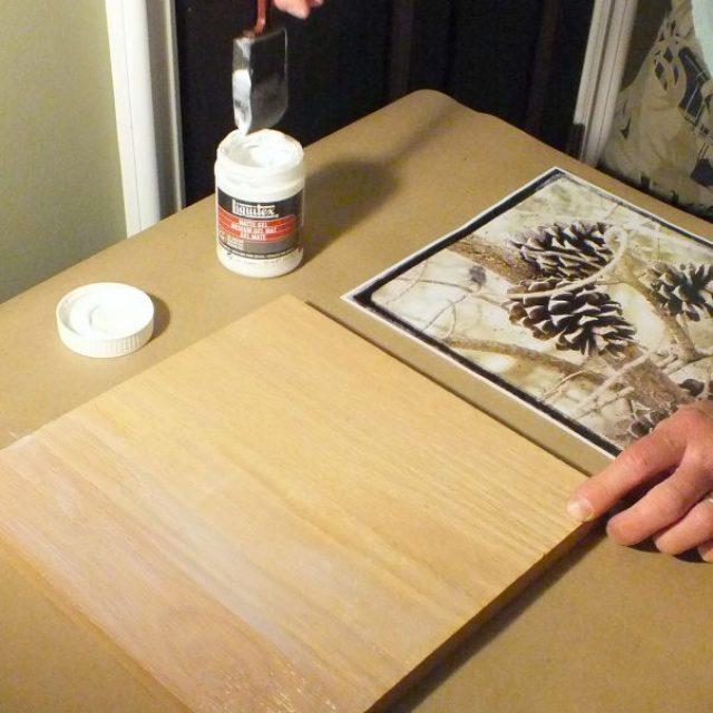 Перенос картинок на деревянную поверхность