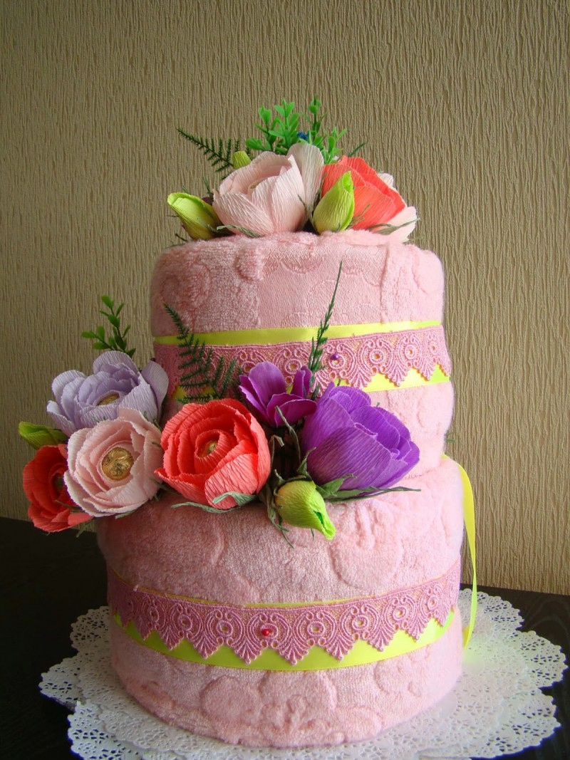 поздравление к торту из полотенец эльф наверняка